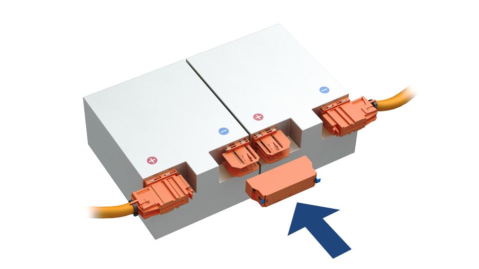 HV-Batterien horizontal verbinden