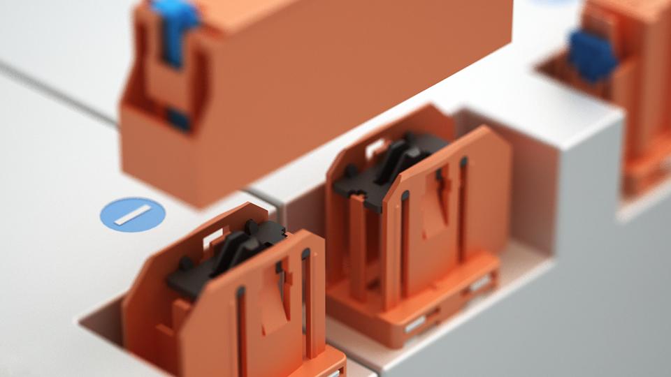 HV-Module verbinden mit Rastermaßen bis120 mm