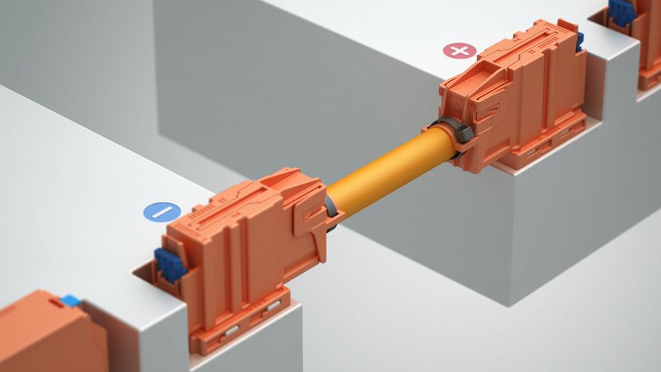 HV-Module verbinden mit Rastermaßen ab 120 mm