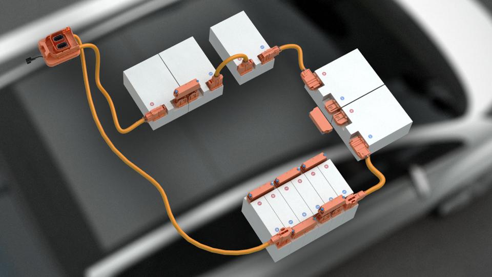Beispielsetup für einen HV-Batteriecluster