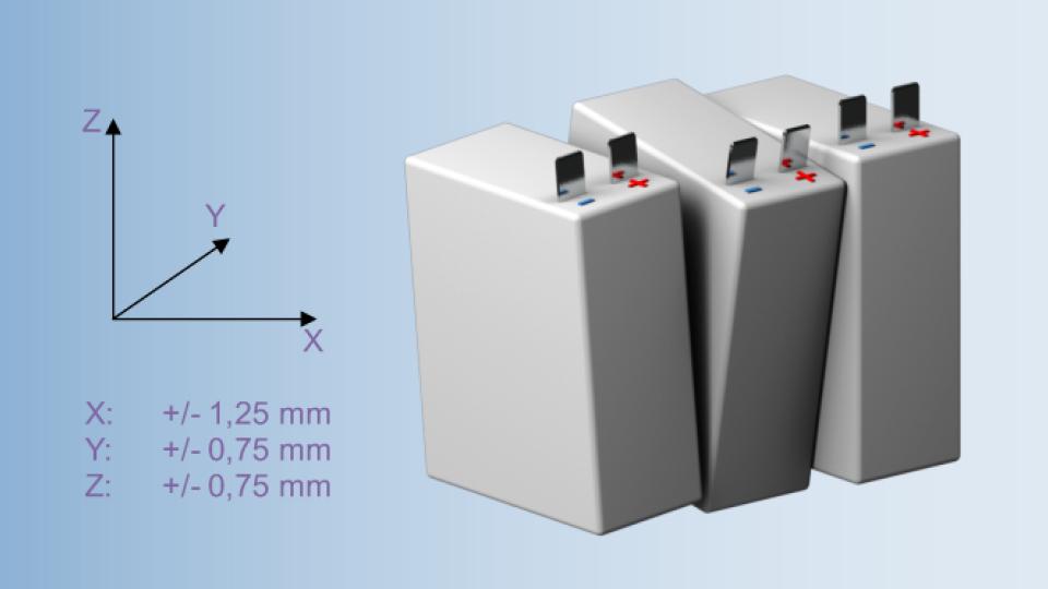 Toleranzausgleich bei HV-Batteriemodulen