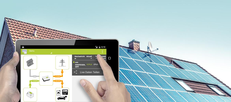 Solarstrom mit dem intelligenten PIKO Speicherwechselrichter von KOSTAL